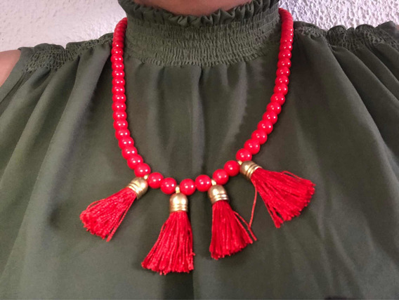 Collar Rojo Bisutería