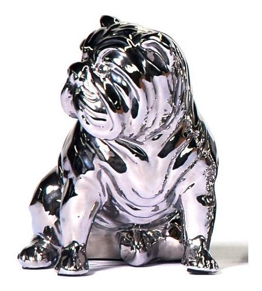 Filhote Buldogue Porcelana Esmaltada H:22cm -