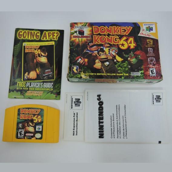 Donkey Kong 64 Original Com Caixa E Manuais Nintendo 64