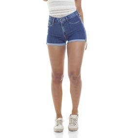 Shorts Feminino Pin Up Barra Dobra Denim Zero-dz6268