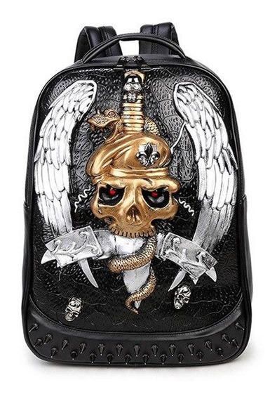 Mochila De Diseño Calavera / Skull Gotica
