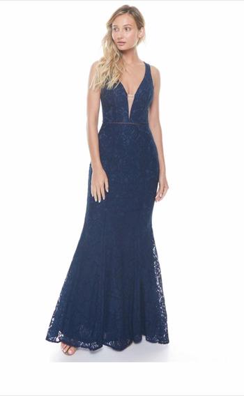 Vestido De Fiesta Azul Marino Largo