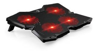 Enfriador Ventilador 4 Coolers Laptop 14-17 Usb Led Gamer