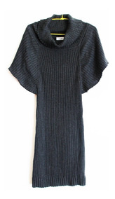 Calvin Klein Vestido Largo Tejido Gris Talla S