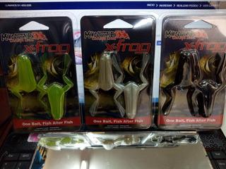 Rana X - Frog Blister Monster 3x Ideal Tarariras 100 % Orig