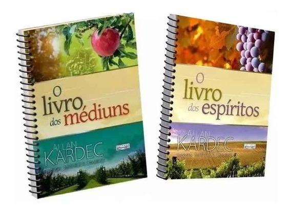 02 Livros: Espiritos E Dos Mediuns / Espiral Tamanho Extra