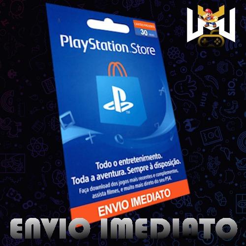 Cartão Psn Store Brasil Gift Card R$30 Reais