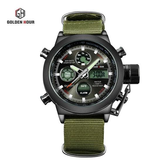 Relógio Masculino Goldenhour Sport Frete Grátis Promoção