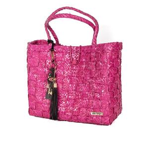 Bolsa De Palha Bahamas Pink Com Chaveiro Búzios