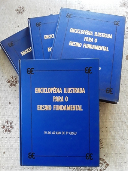 Enciclopédia Ilustrada Para O Ensino Fundamental 4 Volumes
