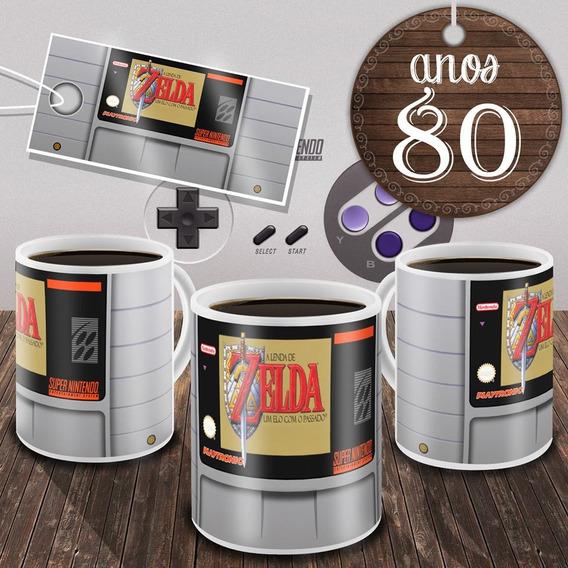Caneca Zelda - Game Snes Cartucho Jogo Super Nintendo