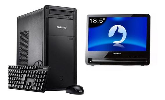 Kit Computador Positivo D60 I3 8gb 500hd Monitor 18