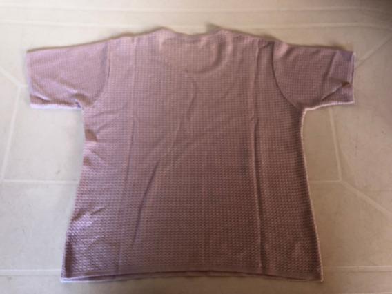Sweater Manga Corta Lavanda Rual De Hilo