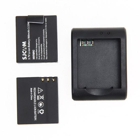 Bateria + Carregador Para Sjcam Sj4000 Sj5000 Sj8000 Sj9000