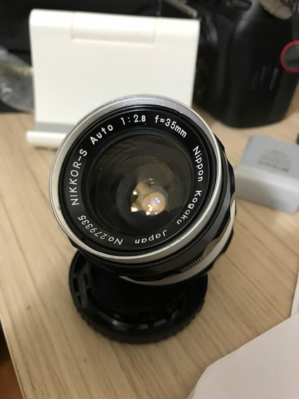 Nikon Nikkor S 35mm 2.8 Lente Non Ai Pre Ai Para Nikon F
