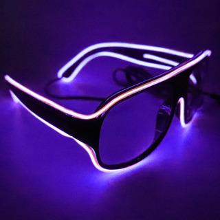 Yj008 Gafas Led 10 Colores Opcional Luz El Alambre Neón