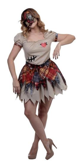 Disfraz Broken Doll Mujer Muñeca Sombie Halloween