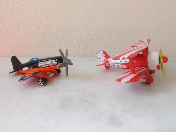 Avião Miniatura Da Disney E Hot Weels