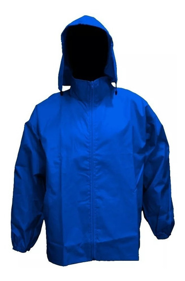 Campera Rompevientos Impermeable Azul Francia