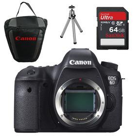 Câmera Canon Eos 6d Corpo+64gb+bolsa+mini Tripé
