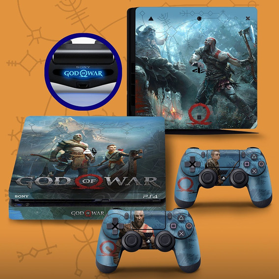 Skin Adesivo Ps4 Slim God Of War Envio Por Carta Registrada