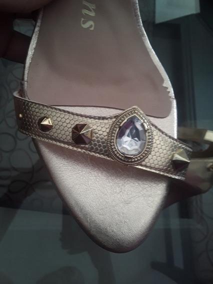 Sandália Dourada Carmen Steffens N 38