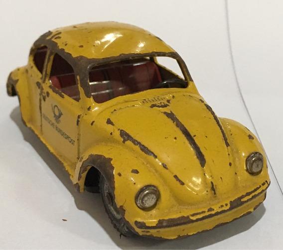 Fusca Alemão Antigo Brinquedo Lata Miniatura 11,5cm