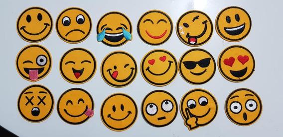 Patch Bordado Emoji Kit 3 Unidades