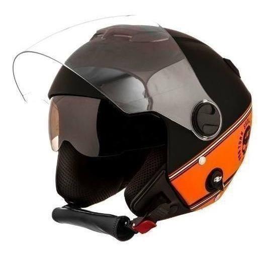 Capacete Moto Preto Lr New Atomic 58 11447