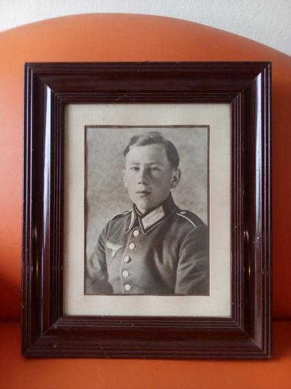 Quadro Soldado Segunda Guerra Alemanha Original Frete Grátis
