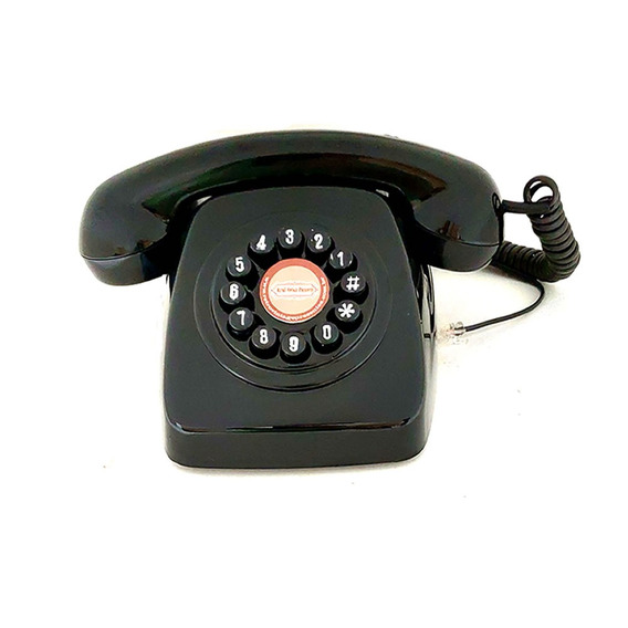 Telefone Retro Funciona E Decora Para Todas Linhas Fixas