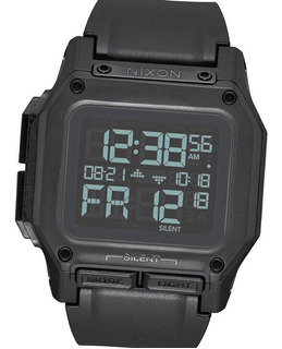 Reloj Nixon Regulus All Black A1180001 Doble Crono Military
