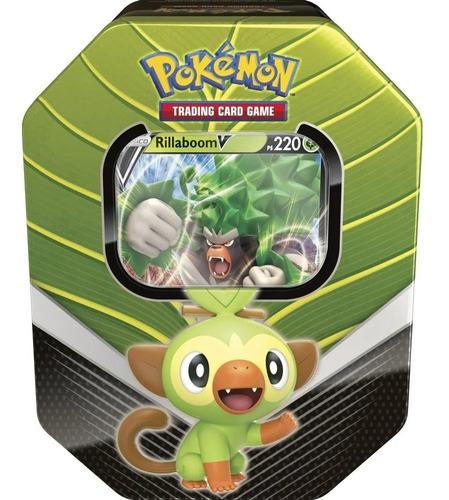 Card Game Pokémon Tcg Lata Parceiros De Galar Rillaboom V