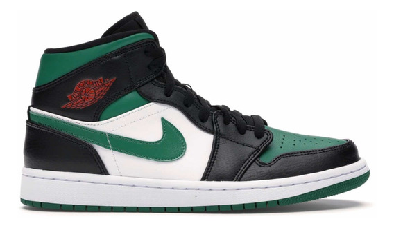 Tênis Air Jordan 1 Mid Green Toe
