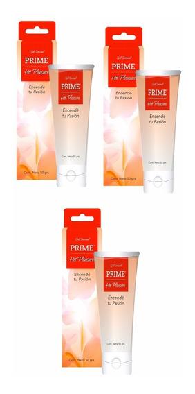 Combo Gel Prime X3 Hot Pleasure Lubricante Femenino 50gr