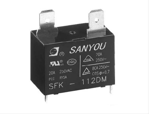 Rele Sanyou Sfk 112dm 12vcc 20a Rele Ar Condicionado Sfk112