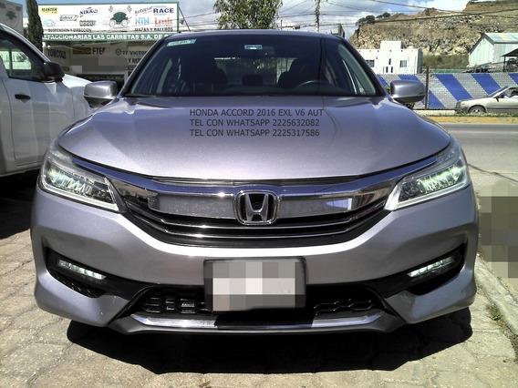 Honda Accord 2016 Exl 6 Cil Auto Piel Enganche $ 53,600