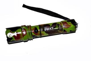 Lanterna Police Recarregável Camuflada Cree Swat - Nova