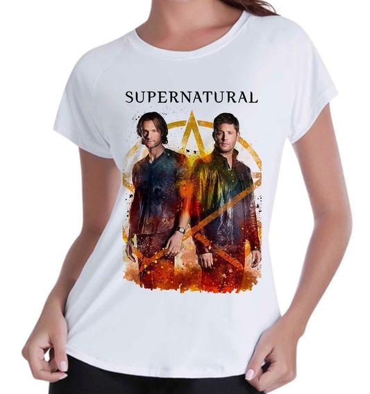Camiseta Camisa Infantil Feminina - Supernatural Serie