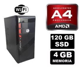 Cpu Gamer Barata Amd A4 6300 4gb Ssd120gb Radeon 2gb 230 Wts