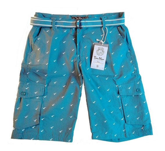 Bermuda Short Con Cinturón De Lona Original