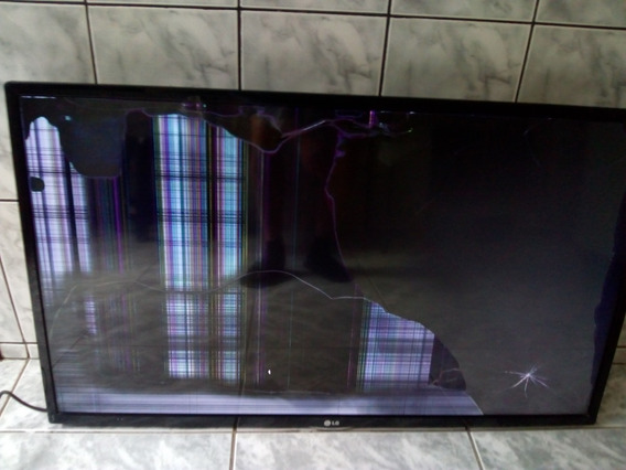 Tv Lg Modelo 42ln549c Com Tela Quebrada