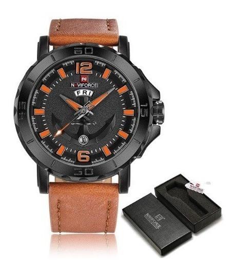 Relógio De Pulso Naviforce Nf9122m Laranja - Pronta Entrega