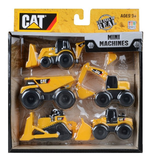 Cat Mini Maquinas Set X 5 Vehiculos Gruas Original Intek