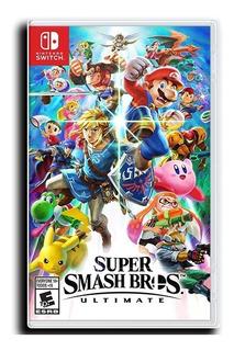 Juego Super Smash Bros Ultimate Nintendo Switch Disponible
