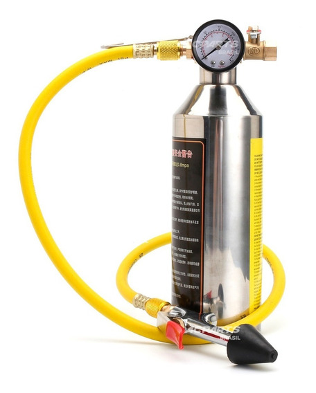 Garrafa Injetora Fluído 141b + Valv. Segurança E Manômetro