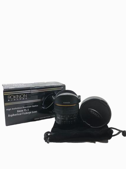 Lente Rokinon 8mm Para Nikon C/ Garantia