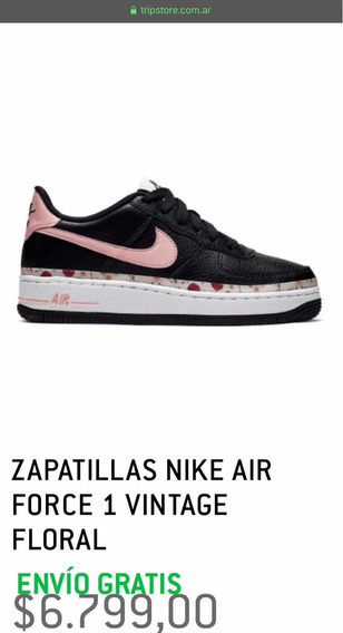 Zapatillas Nike Air Force 1 Vintage Floral Talle 37 (5y Usa)