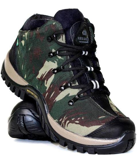 Boot Adventure Camuflado Tenis Treking Masculino Militar