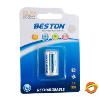 Pila Bateria Cr123a 3.0v 600mah Litio Recargable Beston